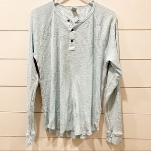 LUCKY BRAND Size L Three Button Thermal Henley
